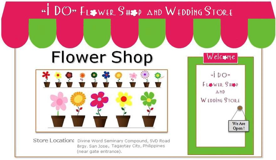 I do flower shop wedding store